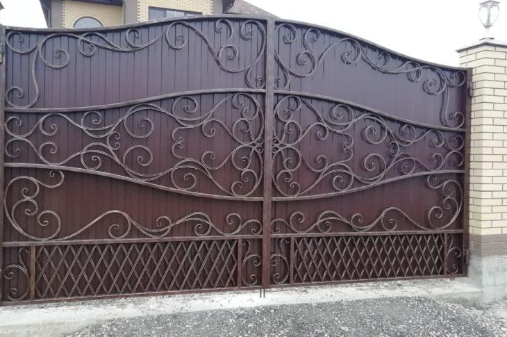 Кованые ворота КВ-13