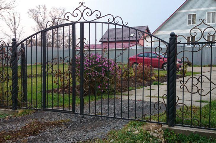 Кованые ворота КВ-21
