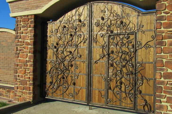 Кованые ворота КВ-09