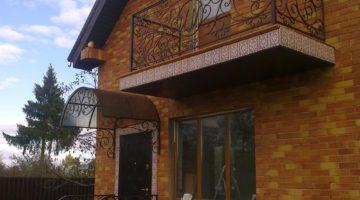 Кованый балкон КБ-07