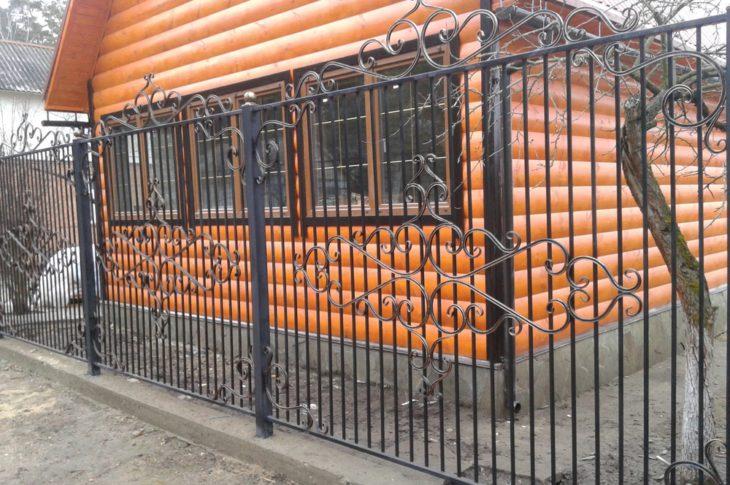 Кованый забор КЗ-05